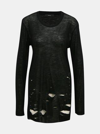 Černé dámské vlněné tričko Diesel