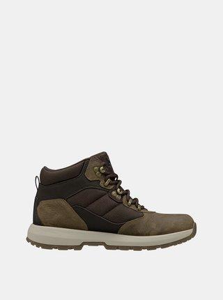 Kaki pánske kožené topánky HELLY HANSEN