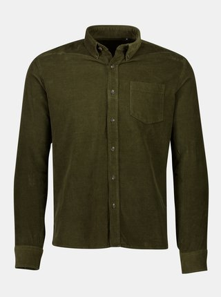 Khaki manšestrová košile Shine Original