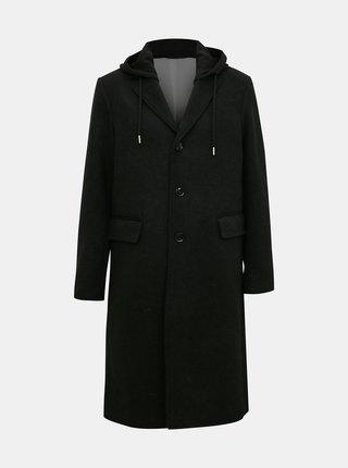 Čierny pánsky vlnený kabát Diesel
