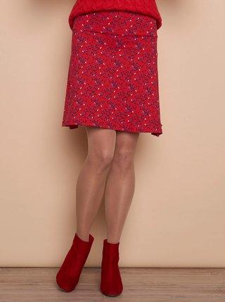 Červená vzorovaná sukně Tranquillo