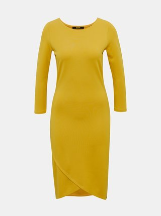 Žlué púzdrové basic šaty ZOOT Baseline Berit