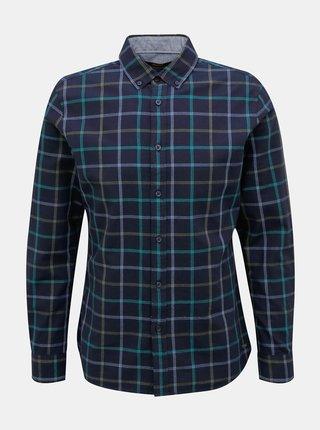 Tmavomodrá pánska kockovaná košeľa ZOOT Baseline Aiden