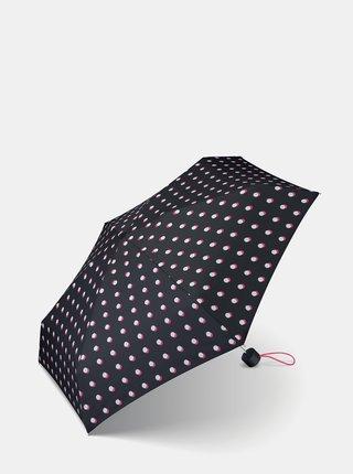 Černý dámský puntíkovaný skládací deštník Esprit