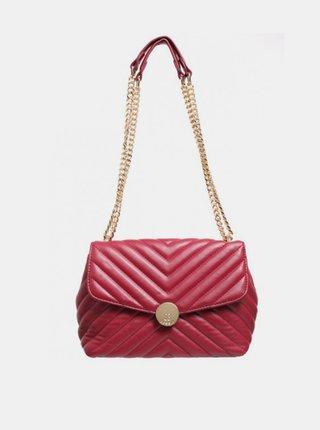 Červená crossbody kabelka Bessie London