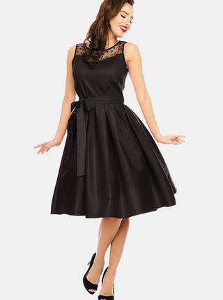 Čierne šaty so zaväzováním Dolly & Dotty