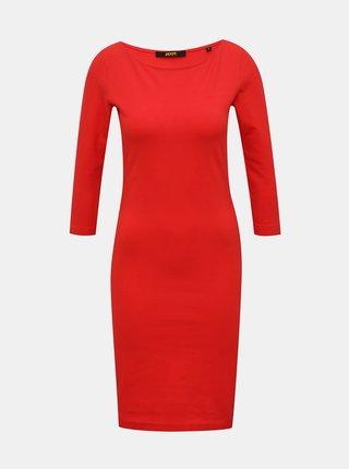 Červené pouzdrové basic šaty ZOOT Baseline Polli