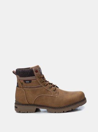 Hnědé pánské kotníkové boty Xti