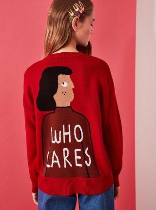 Červený sveter Trendyol