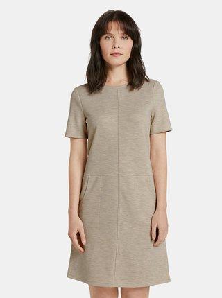 Béžové dámske šaty Tom Tailor