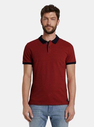 Cihlové pánské polo tričko Tom Tailor