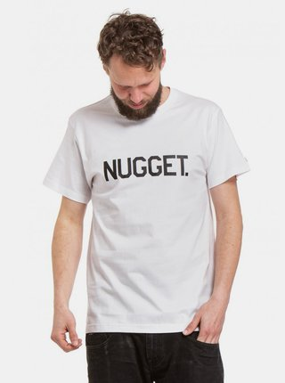 Bílé pánské tričko s potiskem Nugget Logo