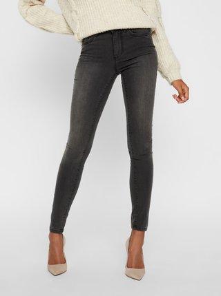 Tmavě šedé skinny fit džíny VERO MODA Tanya