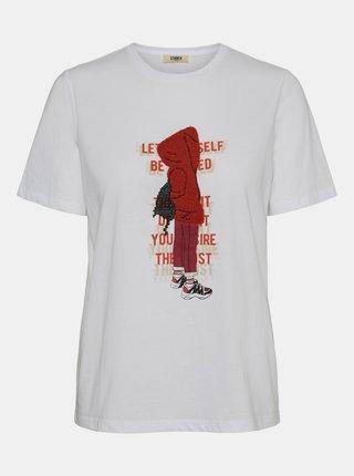 Tricouri pentru femei Noisy May - alb
