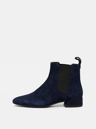 Tmavě modré dámské semišové chelsea boty Vagabond