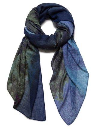 Desigual modrý šátek Foul Sunset