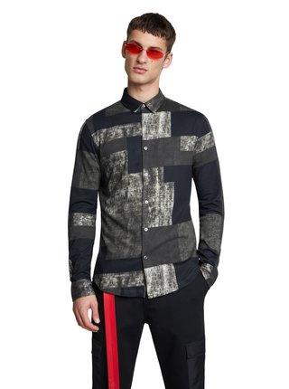 Desigual černá pánská košile Cam Ivan