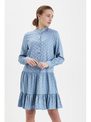 Ichi modré šaty Ixstripy DR Clematis Blue
