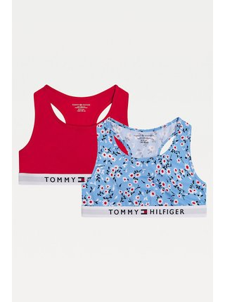 Tommy Hilfiger barevný 2 PACK podprsenek Bralette Moon Blue/Primary Red