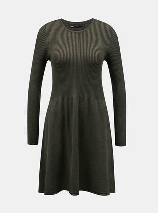 Kaki svetrové šaty ONLY Alma
