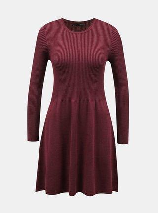 Vínové svetrové šaty ONLY Alma