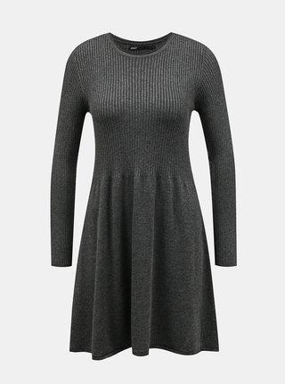 Šedé svetrové šaty ONLY Alma
