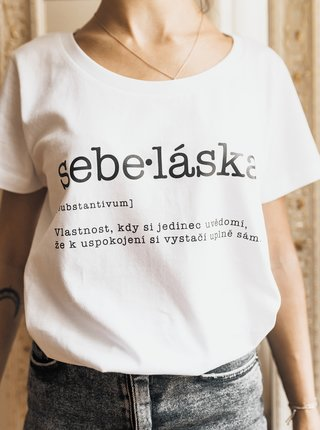Biele dámske tričko ZOOT Original Sebe:láska
