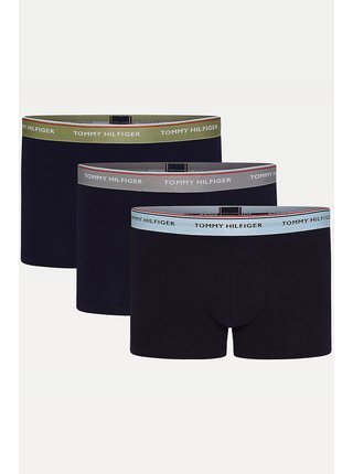 Tommy Hilfiger černý 3 pack boxerek Trunk Faded Olive/Sublunar/Keepsake Blue