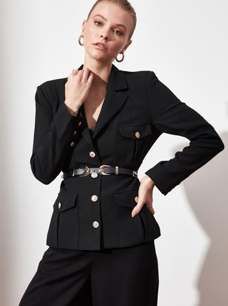 Černé dámské sako Trendyol