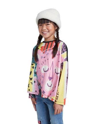 Desigual barevné dívčí tričko TS Slough