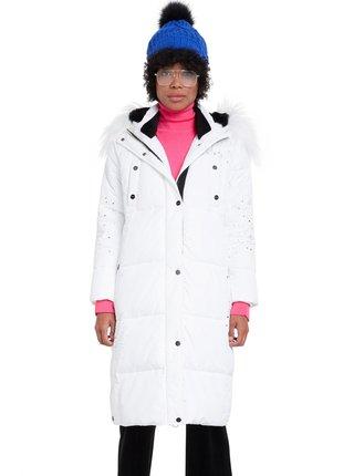 Desigual bílý kabát Padded Katia