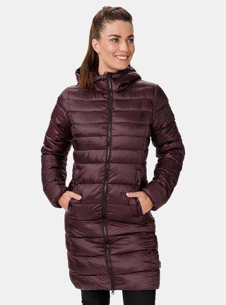 Vínový dámský zimní prošívaný kabát SAM 73