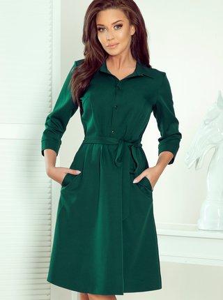 Zelené košilové šaty numoco