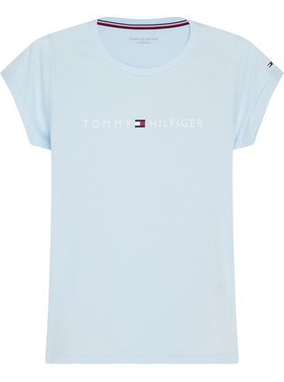 Tommy Hilfiger modré tričko RN Tee SS Logo s logem