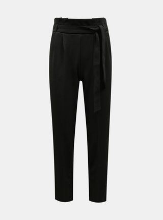 Čierne nohavice so zaväzovaním Miss Selfridge
