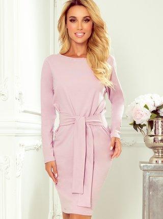 Růžové pouzdrové šaty numoco