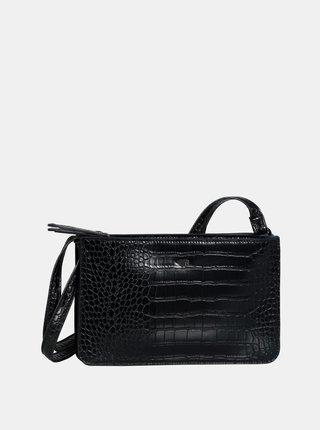 Čierna crossbody kabelka s krokodýlím vzorom Tom Tailor