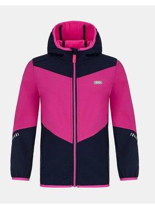 Ružová dievčenská softshellová bunda LOAP Lopi