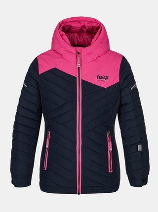 Tmavomodrá dievčenská lyžiarská bunda LOAP Fureta