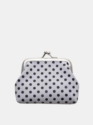 Šedá dámska bodkovaná malá peňaženka Clayre & Eef