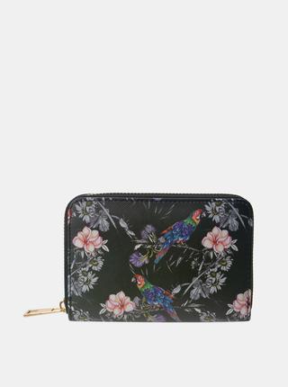 Černá dámská květovaná peněženka Clayre & Eef