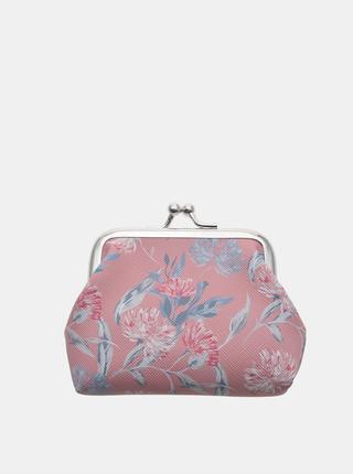 Ružová dámska kvetovaná malá peňaženka Clayre & Eef