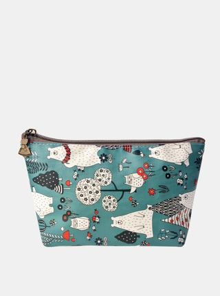 Modrá dámská vzorovaná kosmetická taška Clayre & Eef