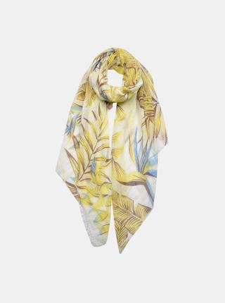 Žlutý dámský květovaný šátek Clayre & Eef