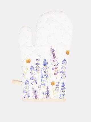 Biela vzorovaná chňapka Clayre & Eef