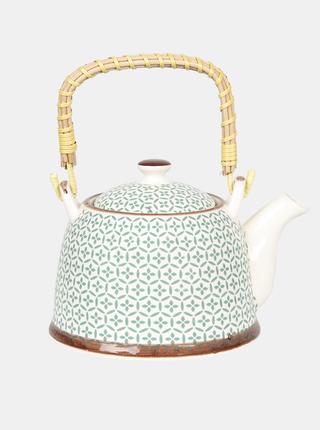Modro-biela vzorovaná kanvica na čaj Clayre & Eef