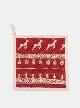 Červená chňapka s vánočním motivem Clayre & Eef