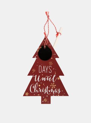 Červená vianočná závesná dekorácia Clayre & Eef