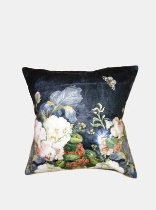 Modrý květovaný povlak na polštář Clayre & Eef