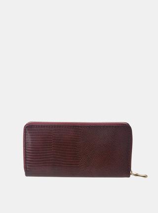 Vínová dámska peňaženka s hadím vzorom Clayre & Eef